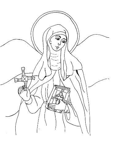 Free St. Brigid Colouring Page